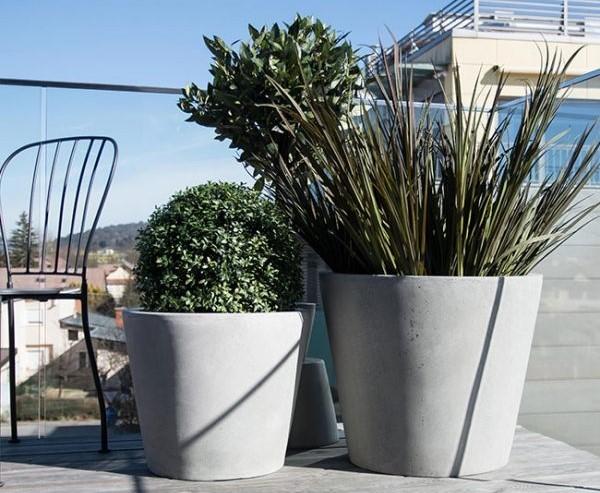 Vasi in cemento per piante da esterno